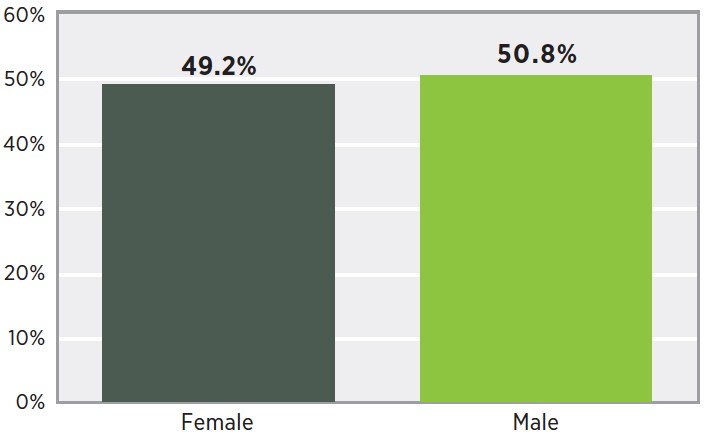 Survey responders by gender